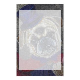 Three Eye Pug Dog Magic Show Art Print Stationery