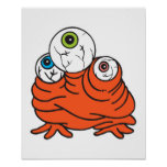 three eyeballs monster posters