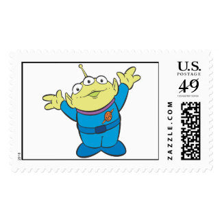 Three-Eyed Alien Disney Postage Stamp
