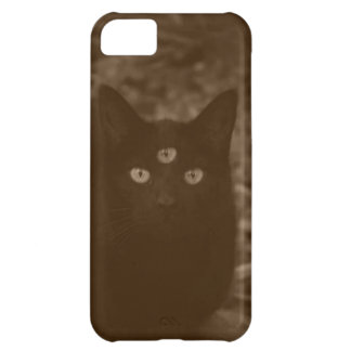 Three-Eyed Black Cat Phone Case