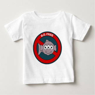 Three eyed fish G.E. free sign Baby T-Shirt