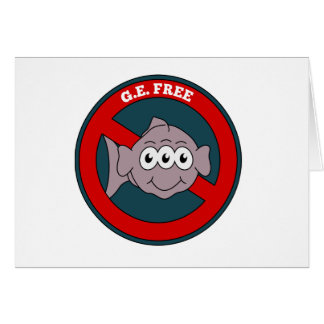Three eyed fish G.E. free sign Card