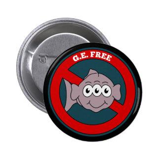 Three eyed fish G.E. free sign Pinback Button