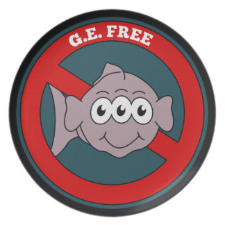Three eyed fish G.E. free sign Plate