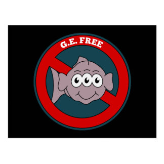 Three eyed fish G.E. free sign Postcard