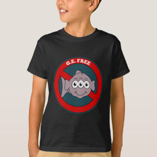 Three eyed fish G.E. free sign T-Shirt