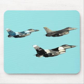 Three F16 Falcons Mouse Pad