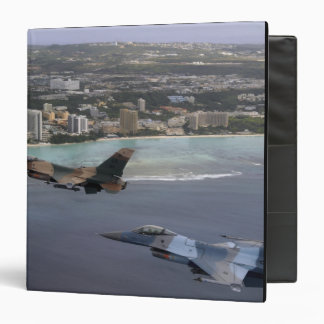 Three F-16 Fighting Falcons fly in formation Binder