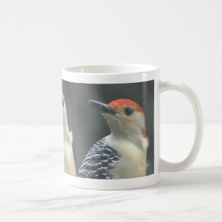 Three faces classic white coffee mug