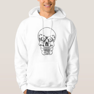 three faces in one skull worms maggots hoodie