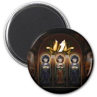 Three Faces of Buddha Magnet