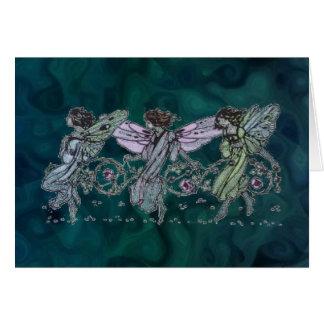Three Fairies Dancing Card
