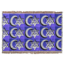 Three Faiths Throw Blanket
