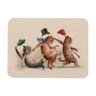 Three Falling Cats by Louis Wain - Cute Animals Magnet