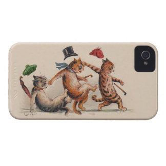 Three Falling Cats by Louis Wain; Fun Vintage Cats iPhone 4 Case-Mate Cases