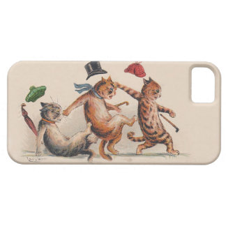 Three Falling Cats by Louis Wain; Fun Vintage Cats iPhone SE/5/5s Case