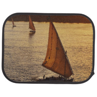 Three falukas with sightseers on Nile River at Car Mat