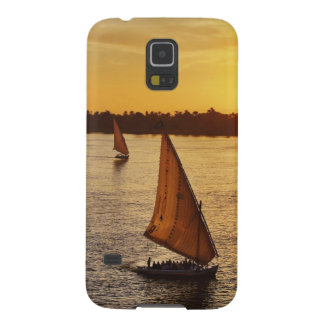 Three falukas with sightseers on Nile River at Galaxy S5 Case