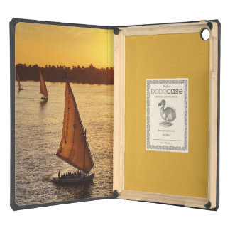 Three falukas with sightseers on Nile River at Case For iPad Air
