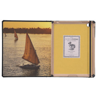 Three falukas with sightseers on Nile River at Covers For iPad
