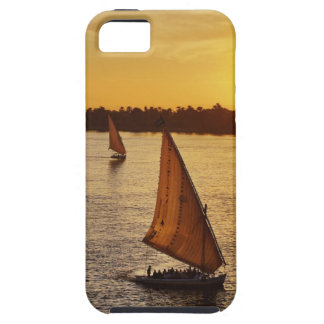 Three falukas with sightseers on Nile River at iPhone 5 Case