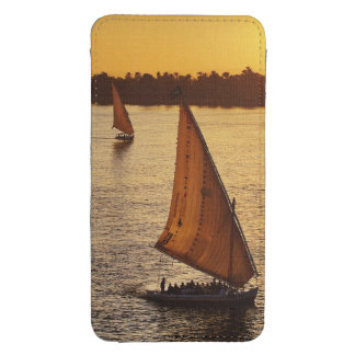 Three falukas with sightseers on Nile River at Galaxy S4 Pouch