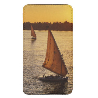 Three falukas with sightseers on Nile River at Galaxy S5 Pouch