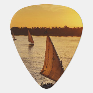 Three falukas with sightseers on Nile River at Guitar Pick