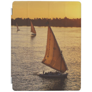 Three falukas with sightseers on Nile River at iPad Cover