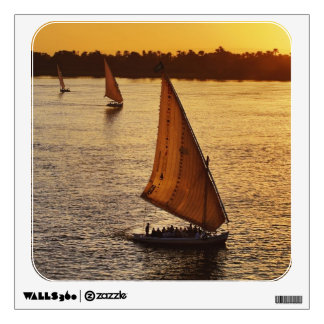 Three falukas with sightseers on Nile River at Room Stickers