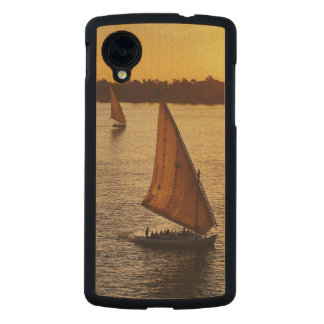 Three falukas with sightseers on Nile River at Carved® Maple Nexus 5 Slim Case