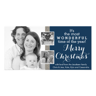 Three Family Instagram Photos Holiday Christmas Card