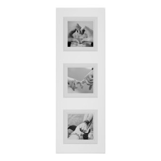 Three Faux Frames Photo Collage Poster
