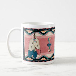 Three Feather Classic White Coffee Mug
