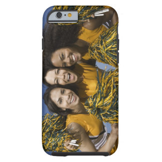 Three female cheerleaders holding pompoms tough iPhone 6 case