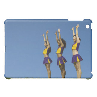 Three female cheerleaders standing in row iPad mini cover