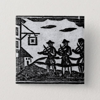 Three Fiddlers, from 'A Book Roxburghe Ballads' Button