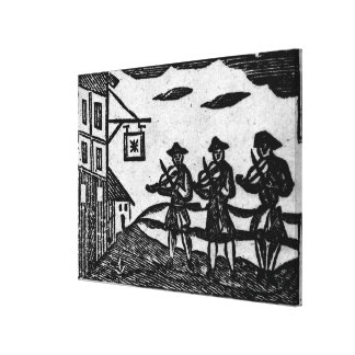 Three Fiddlers, from 'A Book Roxburghe Ballads' Canvas Print