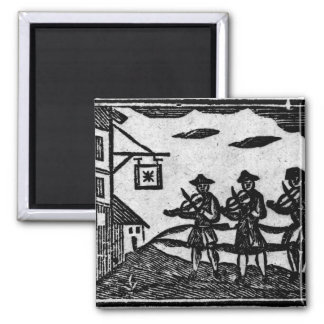 Three Fiddlers, from 'A Book Roxburghe Ballads' 2 Inch Square Magnet