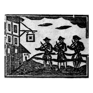 Three Fiddlers, from 'A Book Roxburghe Ballads' Postcard
