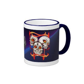 Three Fiery Skulls Mug