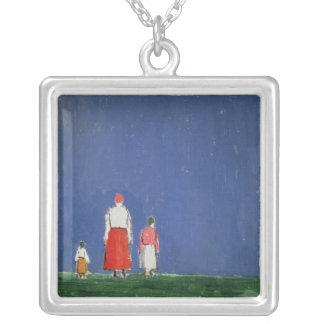 Three Figures, 1913-28 Silver Plated Necklace