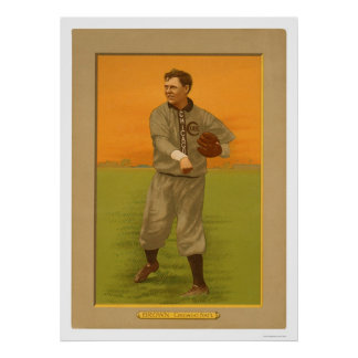 Three Finger Brown Cubs Baseball 1911 Posters