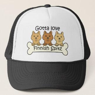 Three Finnish Spitz Trucker Hat