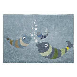 Three Fish Cloth Place Mat
