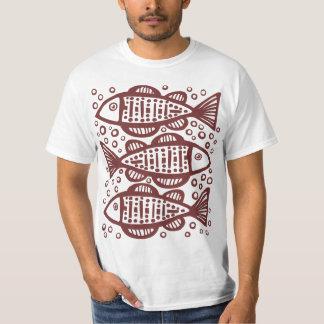 Three Fish - Dark Brown T-Shirt