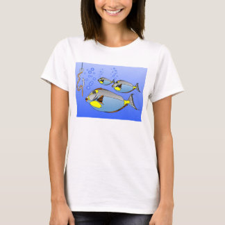 Three fish, hook and worm T-Shirt