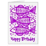 Three Fish - Purple Card