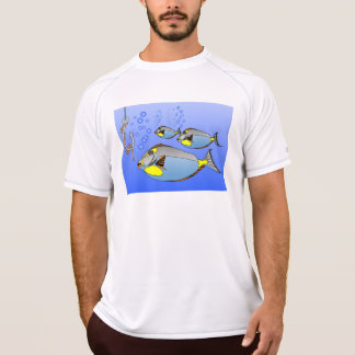 three fish. worm and fish hook T-Shirt