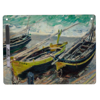 Three Fishing Boats by Claude Monet Dry-Erase Whiteboard